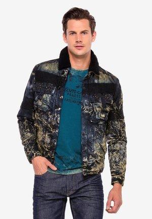 MIT ANGESAGTER WASCHUNG - Denim jacket - schwarz