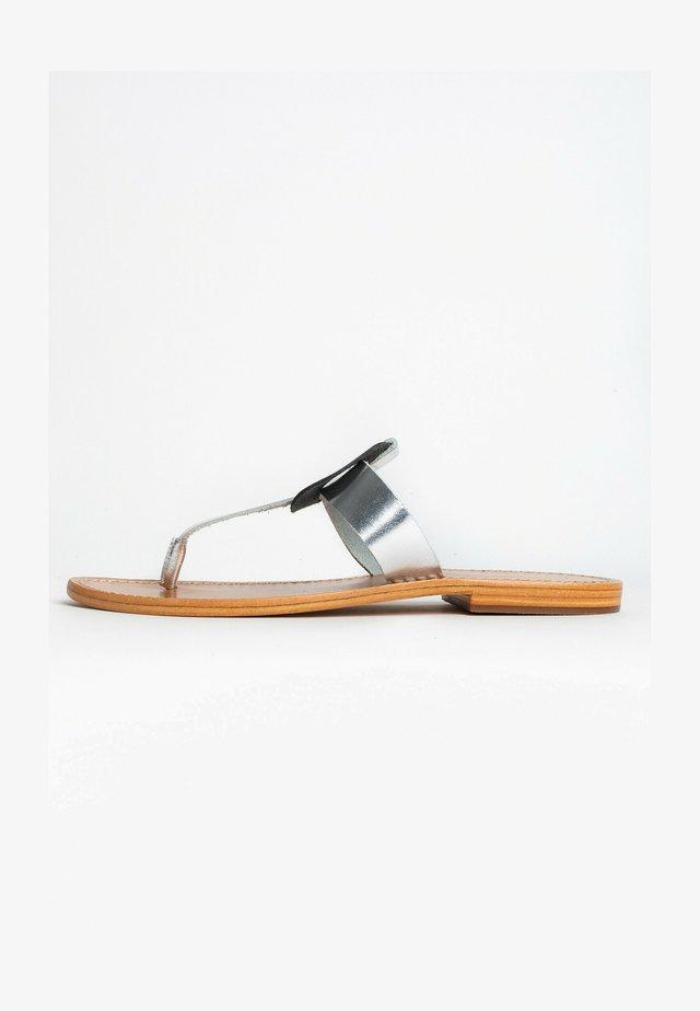 ROSHEEN - T-bar sandals - silver