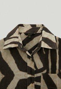 Massimo Dutti - MIT ZEBRAPRINT - Shirt dress - brown - 3