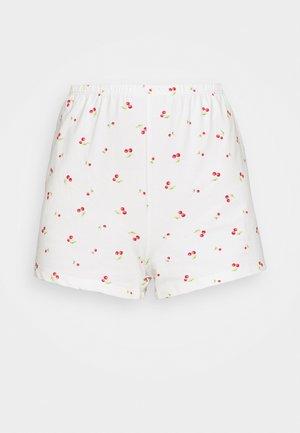 MAYA RELAXED MINI - Shorts - white cherry