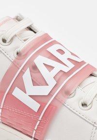 KARL LAGERFELD - KUPSOLE BAND  - Tenisky - offwhite/aqua - 6