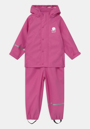 BASIC RAINWEAR SOLID SET UNISEX - Waterproof jacket - real pink