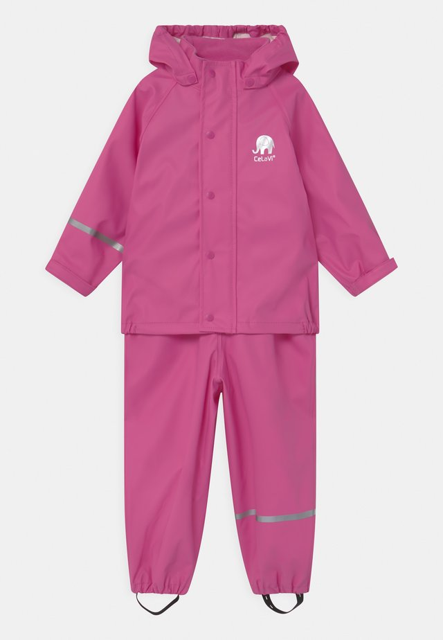 BASIC RAINWEAR SOLID SET UNISEX - Regenjas - real pink