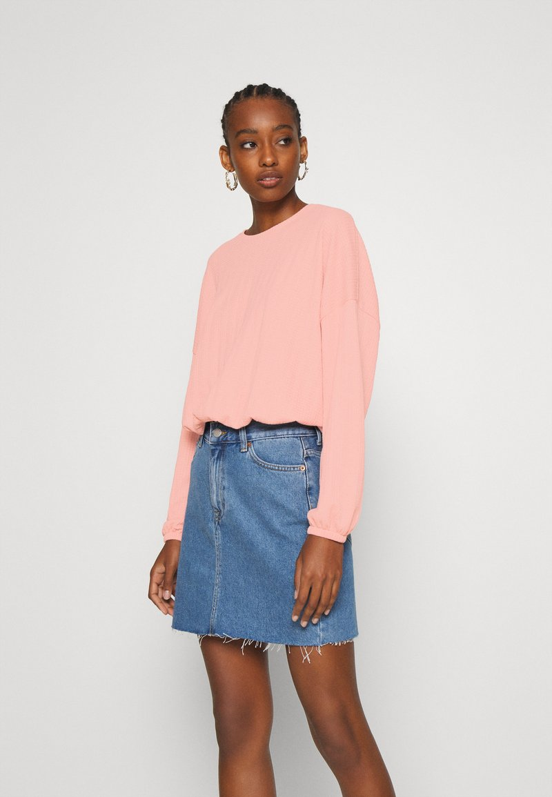ONLY - ONLZILLE ONECK - Long sleeved top - misty rose
