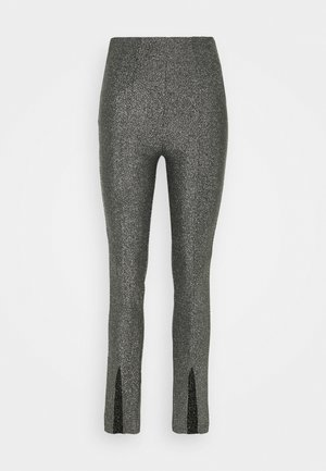 GWEN HIGH WAIST EXCLUSIVE - Trousers - silver