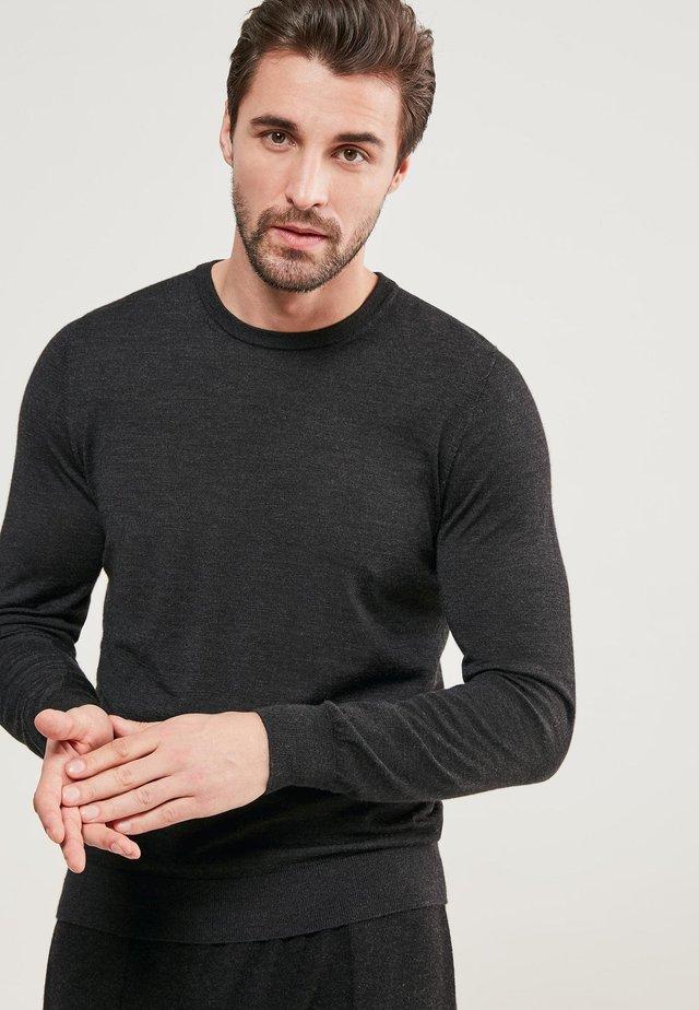 RUNDHALS-PULLOVER AUS CASHMERE ULTRALIGHT - Sweatshirt - antracite mel.