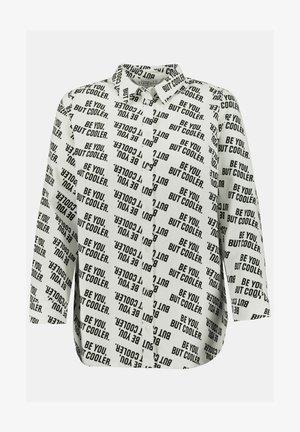 Button-down blouse - schneeweiß