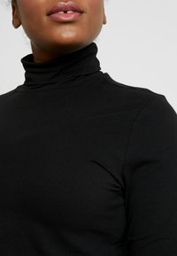 Anna Field Curvy - BASIC LONG SLEEVE TOP - Long sleeved top - black - 5