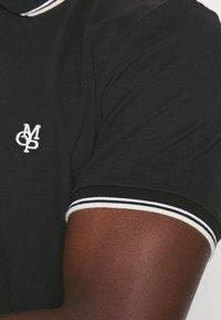 Marc O'Polo - SHORT SLEEVE CONTRAST TIPPING - Polo shirt - black - 4