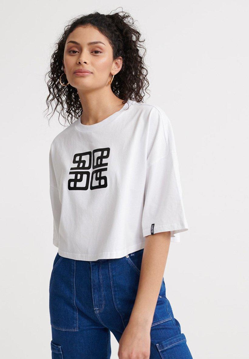 Women SUPERDRY CITY OVERSIZED CROP T-SHIRT - Print T-shirt