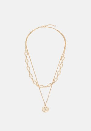 NECKLACE LAYER KNOT AND COIN - Necklace - gold-coloured