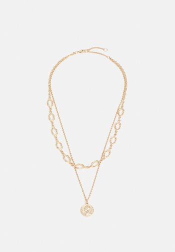 NECKLACE LAYER KNOT AND COIN - Ketting - gold-coloured