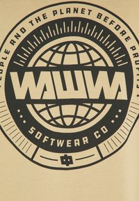 WAWWA - CIRCLE LOGO LONGSLEEVE UNISEX - Maglietta a manica lunga - beige - 2