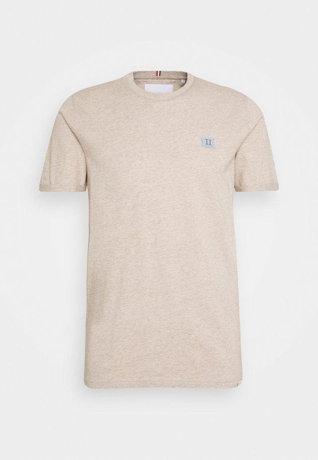PIECE - T-shirt basic - light brown melange