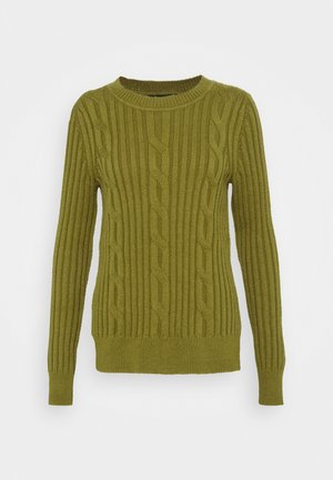 DOORBUSTER CREW CABLE - Pullover - cargo olive