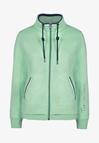 Zip-up sweatshirt - lime glow mel