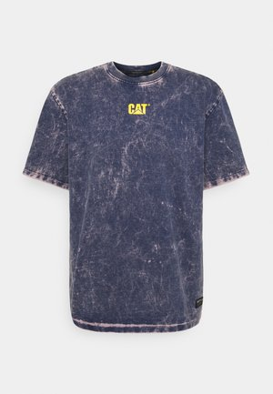 BLEACHING TEE - T-shirt imprimé - blue