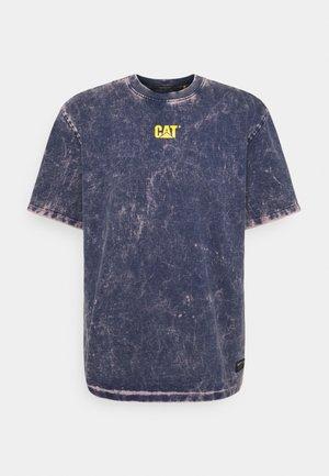 BLEACHING TEE - Print T-shirt - blue