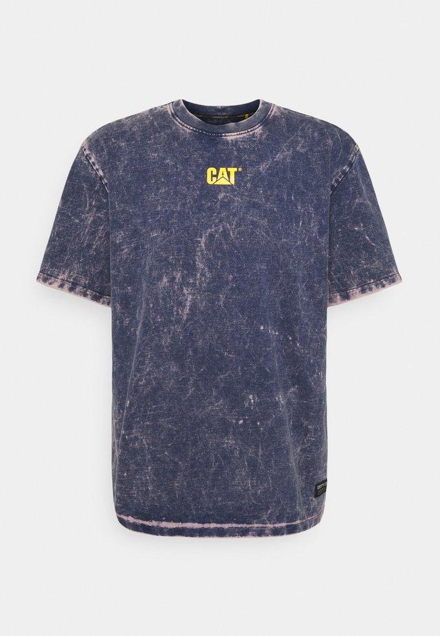 BLEACHING TEE - T-shirt print - blue