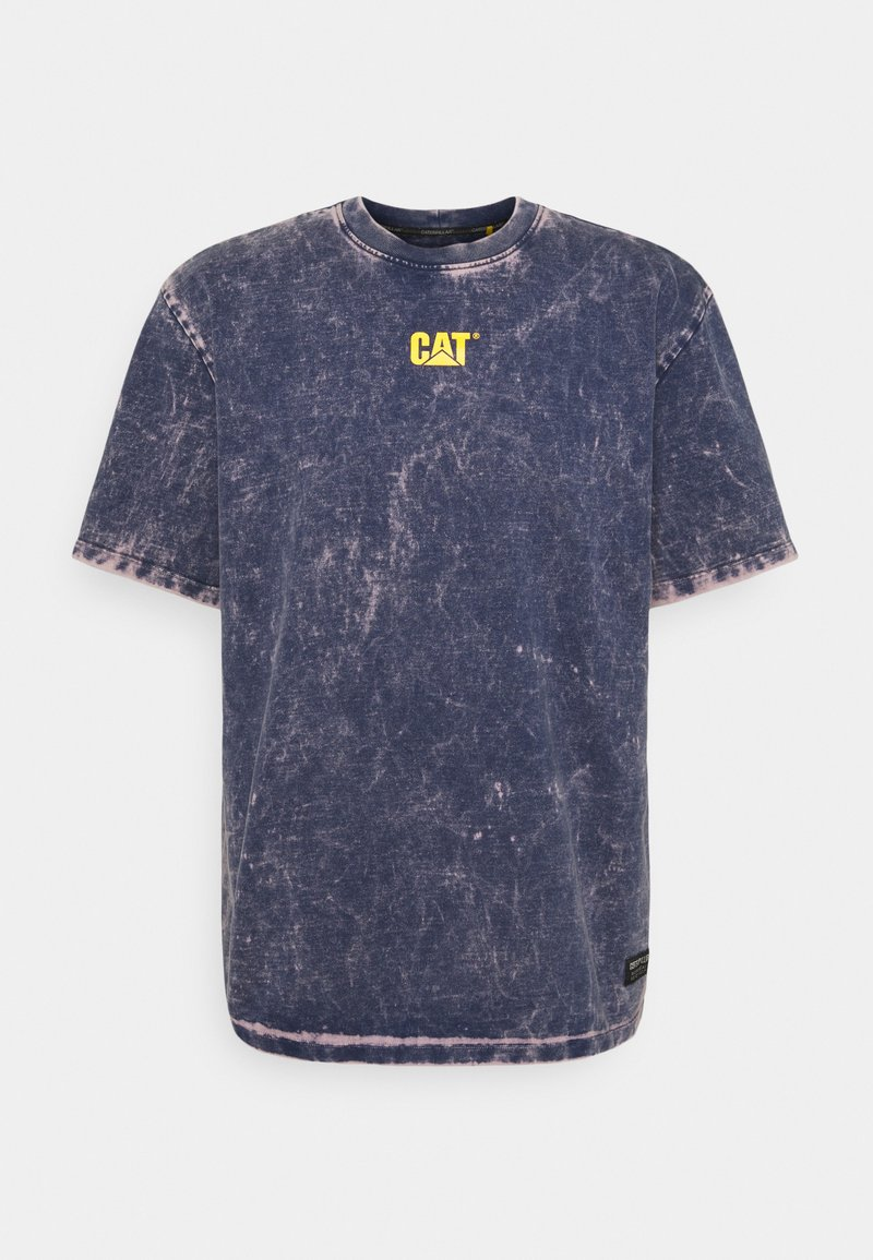 Caterpillar - BLEACHING TEE - T-shirt med print - blue