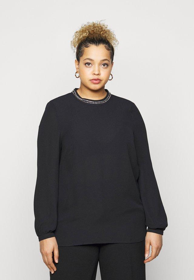 CARIBI PEARL BLOUSE - Blouse - black