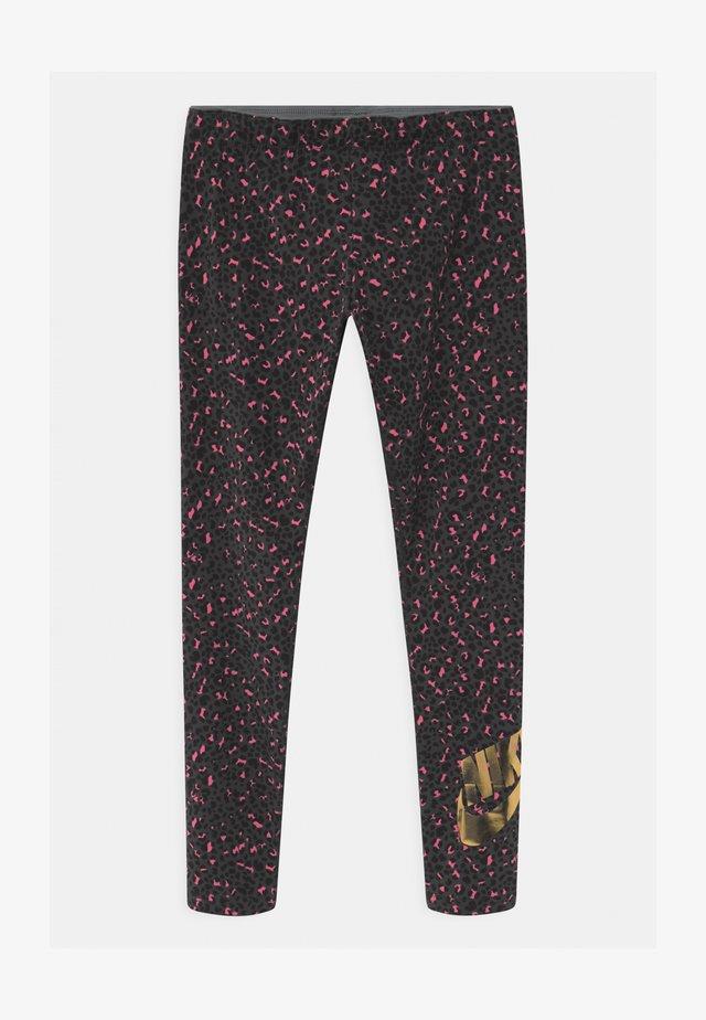 Leggings - Trousers - smoke grey/pinksicle/black