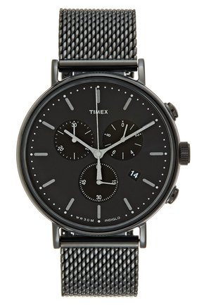 FAIRFIELD CHRONOGRAPH 41 mm MESH - Cronografo - black/black