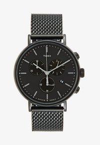 Timex - FAIRFIELD CHRONOGRAPH 41 mm MESH - Chronograph watch - black/black - 1