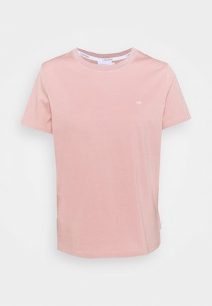 SMALL LOGO EMBROIDERED TEE - Basic T-shirt - muted pink