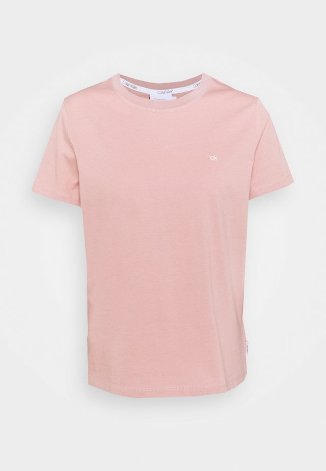 SMALL LOGO EMBROIDERED TEE - Jednoduché triko - muted pink
