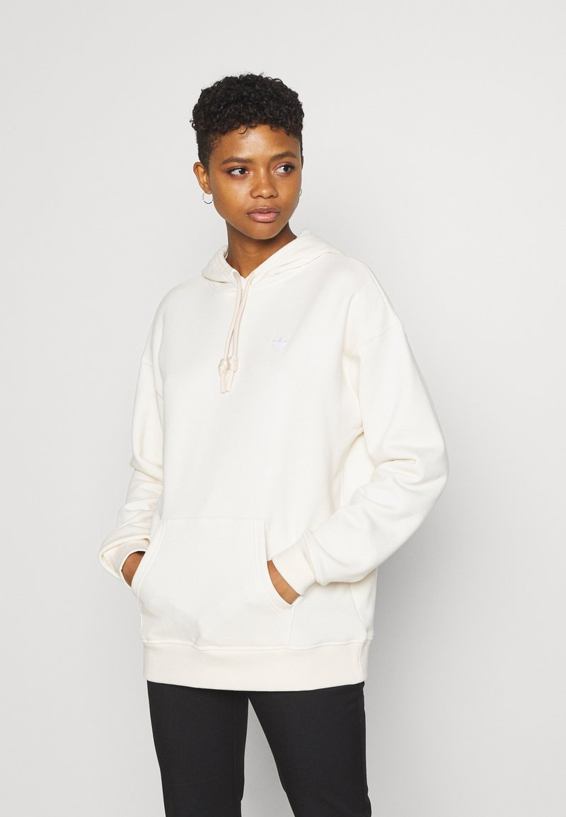 adidas Originals - TRFEOIL HOODIE - Sweatshirt - off-white