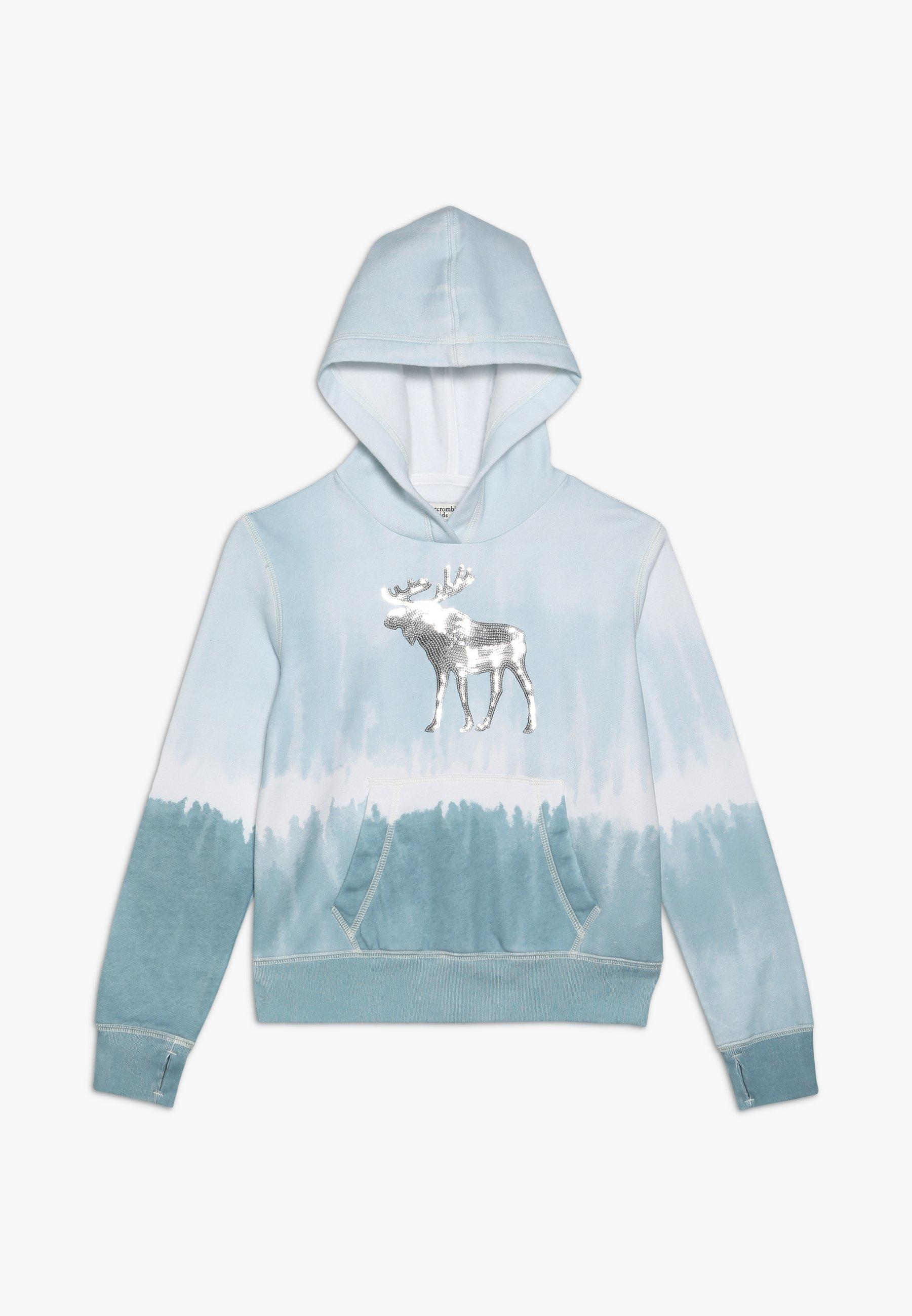 Große Förderung Abercrombie & Fitch DYE EFFECT CORE - Kapuzenpullover - blue | Damenbekleidung 2020