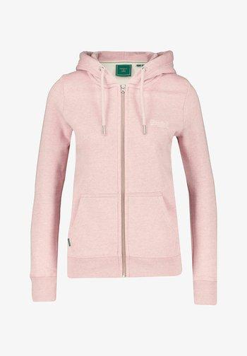 VINTAGE LOGO - Zip-up sweatshirt - rosa