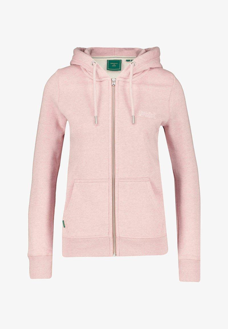 Superdry - VINTAGE LOGO - Zip-up sweatshirt - rosa