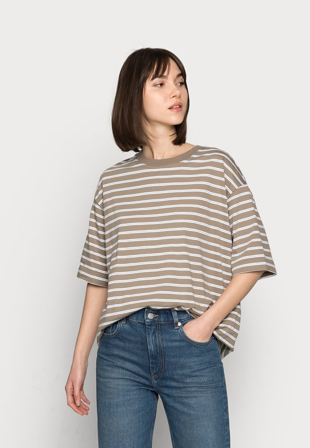 T-shirt - bas - mole stripe