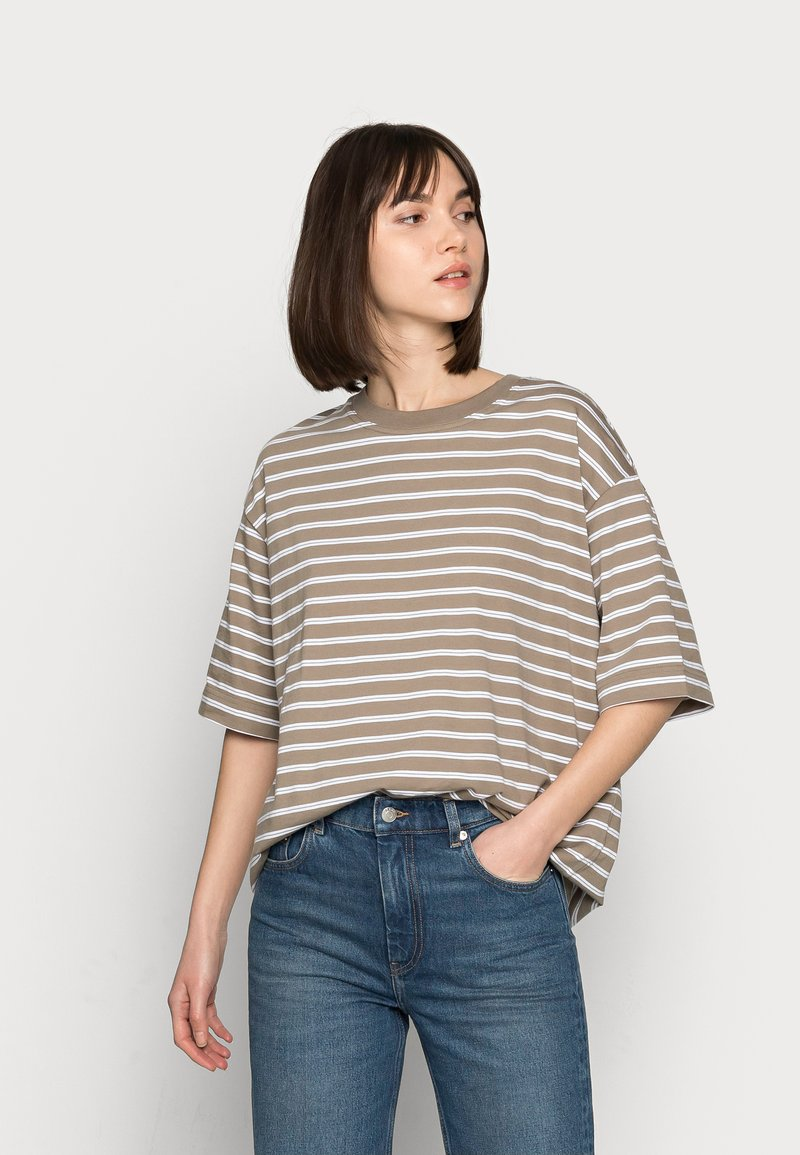 ARKET - Basic T-shirt - mole stripe