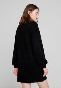 Object - OBJEVE NONSIA - Pletené šaty - black - 3