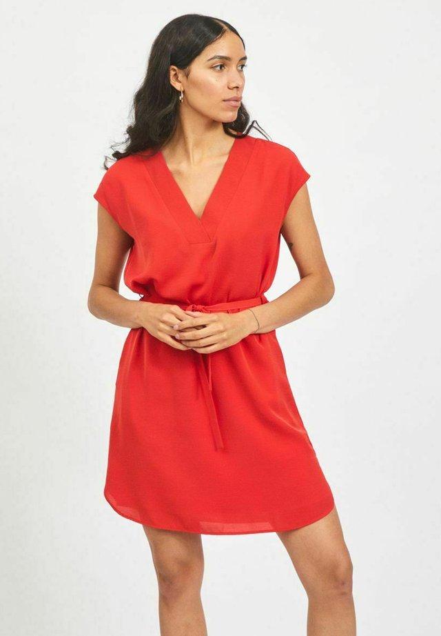 Korte jurk - mars red