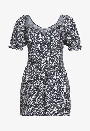 QUINCY SUMMER PLAYSUIT - Jumpsuit - navy ditsy