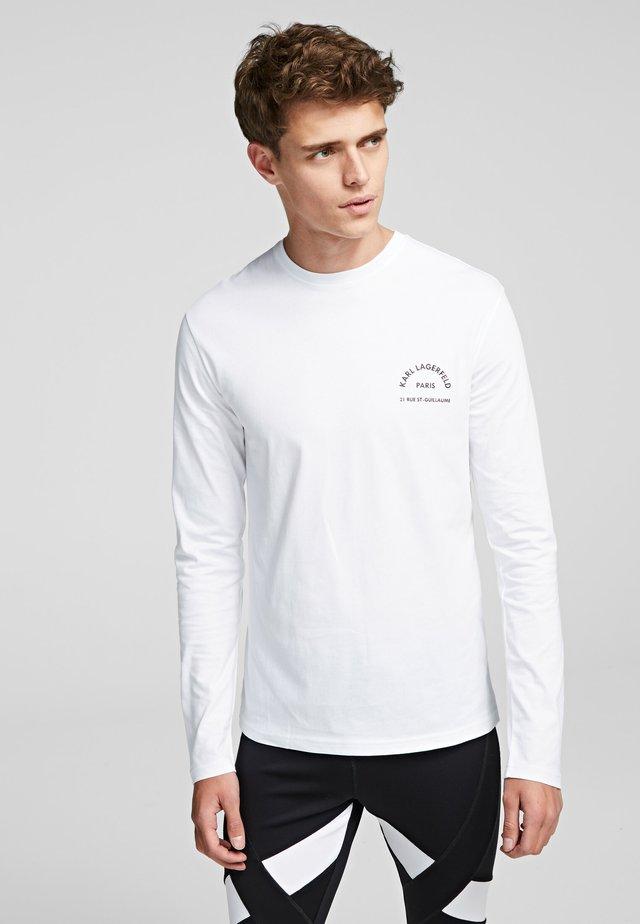 KARL LAGERFELD RUE - Pitkähihainen paita - white