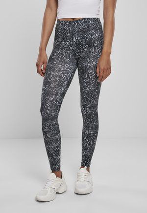 AOP - Leggings - Trousers - black/white