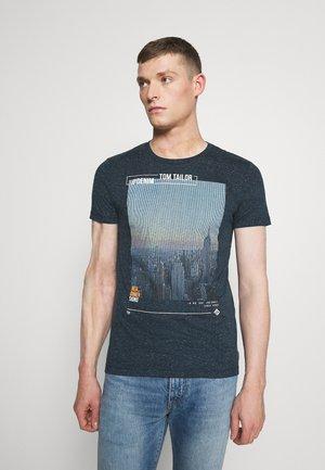 Print T-shirt - sky captain blue