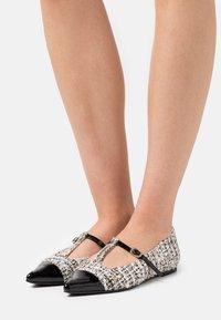 Pretty Ballerinas - SHADE - Ankle strap ballet pumps - anthracite - 0