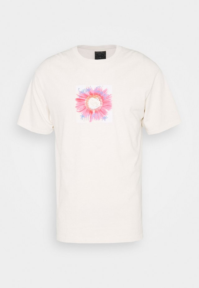 WINDOW PAINE TEE - T-shirts med print - natural