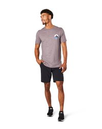 Smartwool - T-shirt print - sparrow heather - 0