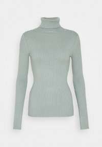 BASIC- RIBBED TURTLE NECK - Jumper - light green