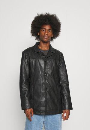 NATHAN - Kožená bunda - black