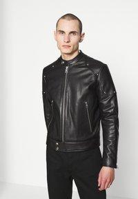 Just Cavalli - SPORTSJACKET - Leather jacket - black - 0