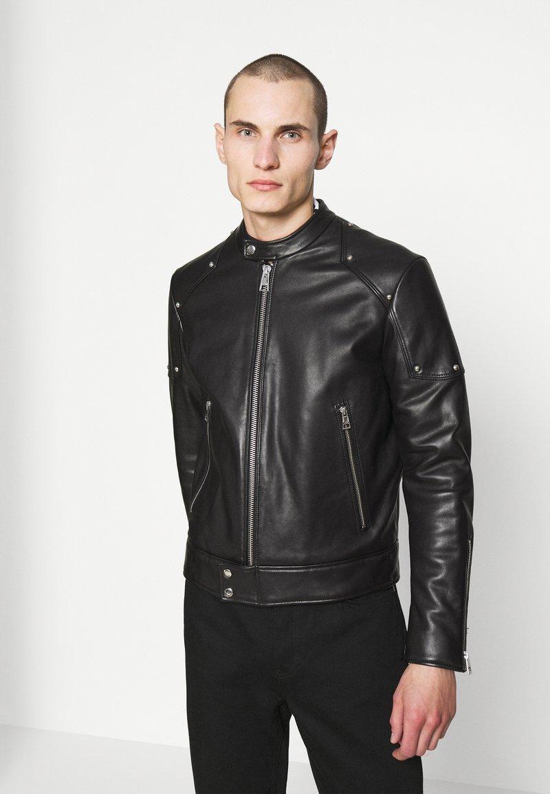 Just Cavalli - SPORTSJACKET - Leather jacket - black