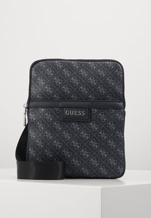 DAN LOGO MINI FLAT CROSSBODY - Across body bag - black